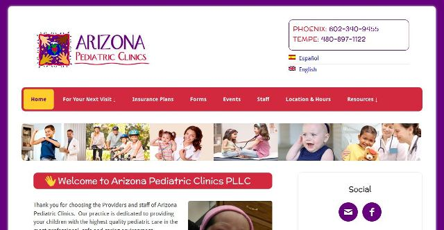 Arizona Pediatric Clinics – WordPress Site