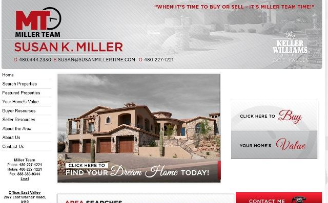 Miller Team at Keller Williams Realty  – Websites