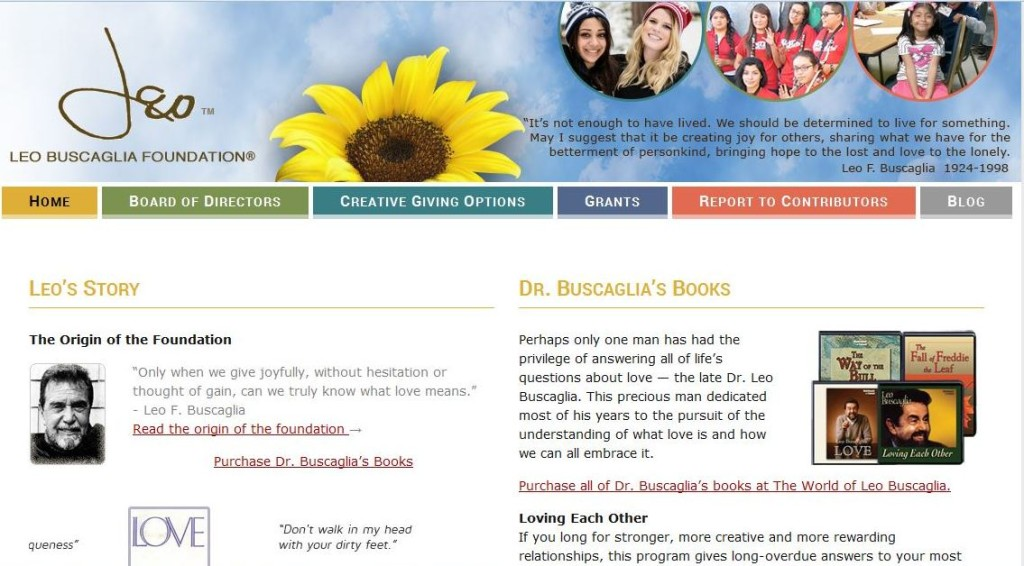 New WordPress Site for Leo Buscagalia Foundation
