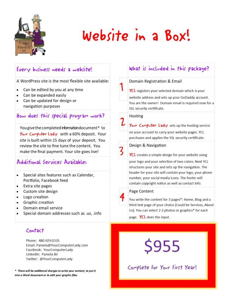 Website in a Box